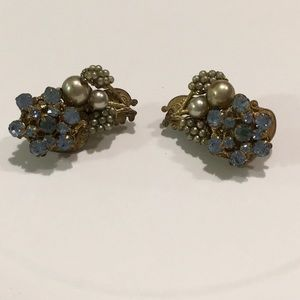 Vintage and Signed Miriam Haskell Earrings